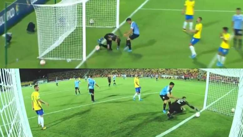 Arrubarrena marcou gol contra. Capturas/TyCSports
