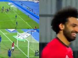 Salah volvió a hacer de las suyas en su regreso con Egipto. Captura/BeINSports