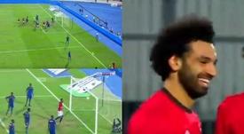 Salah renait de ses cendres avec sa sélection. capture/BeInSports
