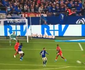 Schalke 04 vient à bout de Mayence. Capture/Movistar