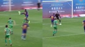 El golazo de 'crack' de Illaix, la gran perla de la cantera del Barça. Capturas/FC Barcelona