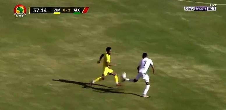Mahrez scored a screamer. Captura/beINSports