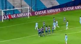 Para ver una y otra vez: el golazo de Matías Rojas en plena Libertadores. Captura/ESPN