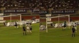 El gol fantasma de Junior que necesitó un ojo de halcón humano. Captura/ClubJunior