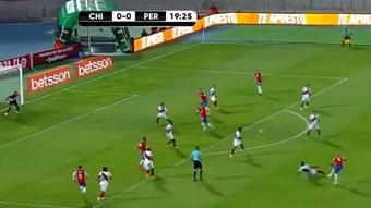 Vidal scored for Chile. Screenshot/beINSports