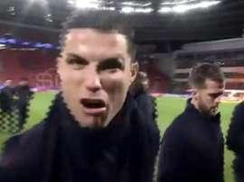 Cristiano tem um novo grito. Captura/ESPN