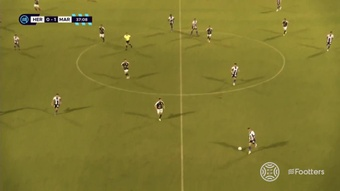 El Hércules logró la victoria con un gol en el 88'. Captura/Footters