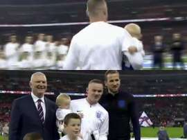 Rooney, ému à Wembley. Twitter/England