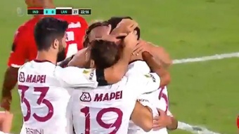 Lanús ganó en su estreno a Independiente. Captura/FoxSports