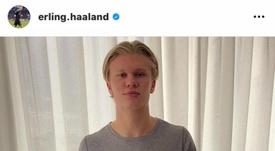 Haaland mandó un mensaje de optimismo a todos sus seguidores. Instagram/Erling.Haaland