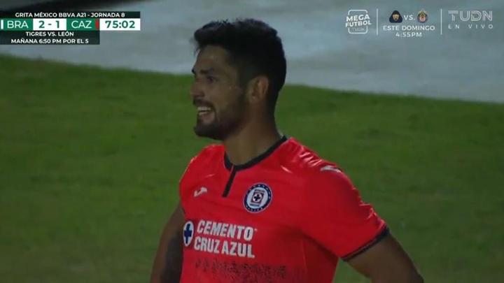 Juárez ganó 2-1 a Cruz Azul. Captura/TUDN