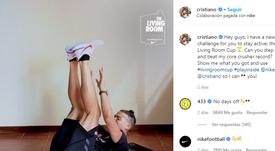 Cristiano é superado por Semenyaem seu próprio desafio. Instagram/cristiano