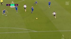 Fulham surprend Leicester. Captura/DAZN