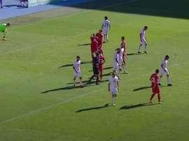 Macedonia del Norte amarga el debut de Caparrós. Captura/SoccerLiveTV