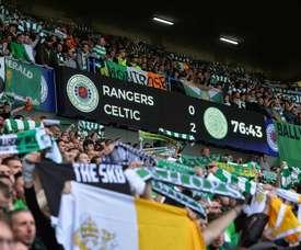 Captura del marcador durante el Rangers-Celtic. ChampionsLeague