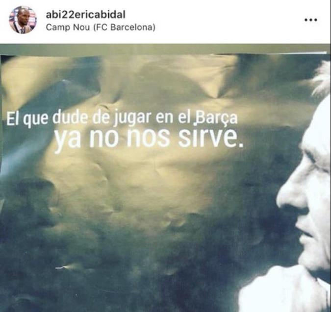 El enigmático mensaje de Eric Abidal. Instagram/Abi22ericabidal