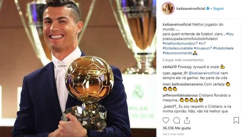 Katia Aveiro défend son frère. Instagram/katiaaveirooficial