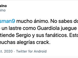 Weissman tuvo que ser sustituido. Captura/Twitter/GuelPalno