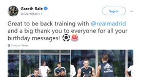 Bale está motivado. Twitter/GarethBale