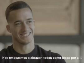 Lucas Vázquez passe en revue sa carrière et ses débuts professionnels avec le Real Madrid. Cap/Mahou