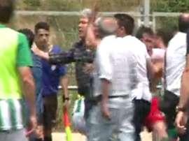 Captura del momento de la agresión a Alba Castilla. VideoTelevisióVallèsVisió