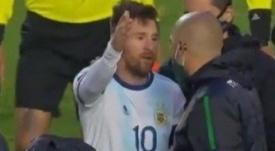 La respuesta del 'pelado' Lucas Nava a Messi. Captura/TyCSports