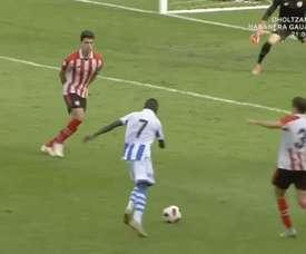 Zourdine hizo el gol de la victoria. Captura/AthleticClub