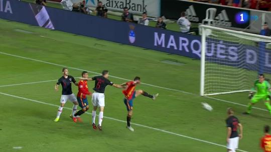 Saúl a inscrit le 1-0 de l'Espagne face à la Croatie. capture/TVE