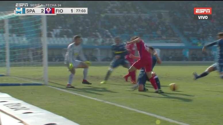 La polémica del SPAL-Fiorentina continuó tras el choque. Twitter/Captura/ESPN