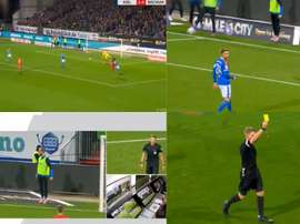 Pênalti cometido por um reserva, já viu essa? Captura/Bundesliga