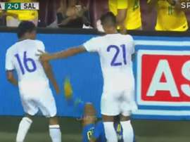 Neymar hizo un gran partido ante El Salvador. Captura/SportTV
