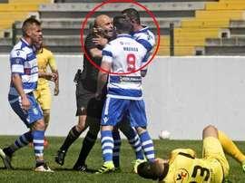 El futbolista ha sido sancionado con cuatro encuentros. Twitter
