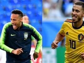 Marcelo escolhe entre Neymar e Hazard. Montaje/BeSoccer