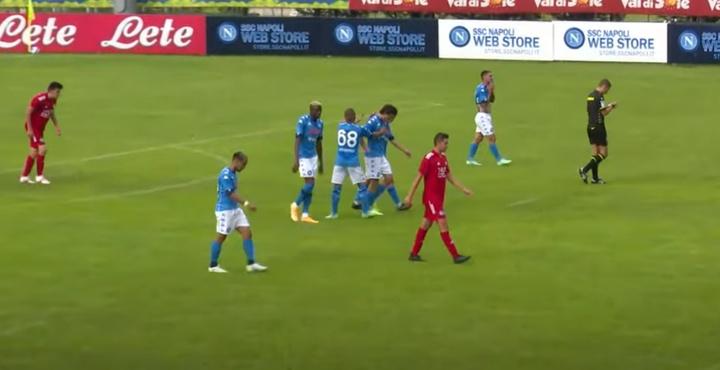El Nápoles venció 12-0. Captura/SSCNapoli