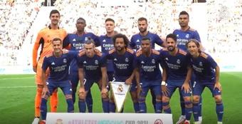 Alaba debutó con el Madrid en el 0-0 ante el Milan. DUGOUT