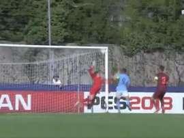 Providencial manopla del guardameta del Barça. Captura/beINSports