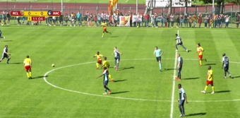 Lens y Le Havre jugaron dos partidos de 60 minutos. Twitter/RCLens