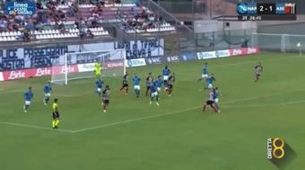 El Nápoles gana al Ascoli antes de debutar en la Serie A. Captura/FoxSports