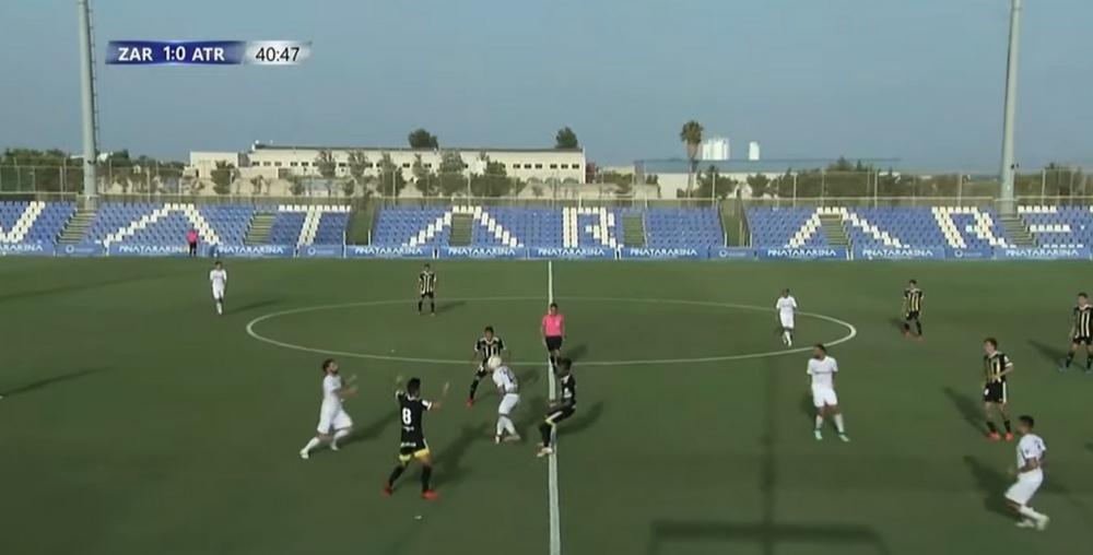 El Zaragoza se atasca frente al Atromitos. Captura/NovaSports