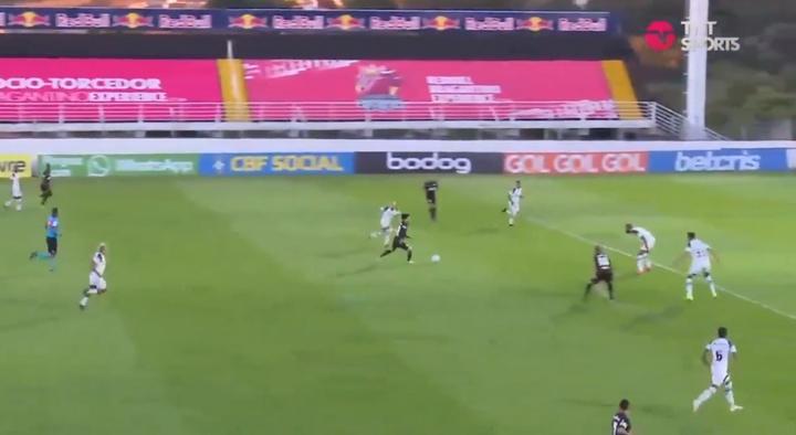 RB Bragantino y Ceará empataron. Captura/TNTSports