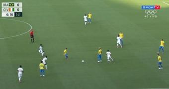 Brasil mostra muita raça, mas não passa de um empate com a Costa do Marfim. Captura/SporTV