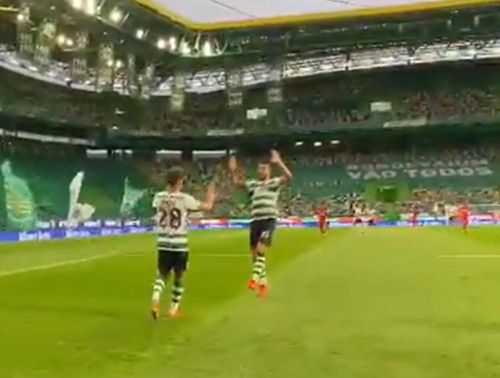 El Sporting venció 3-2 al Lyon. Twitter/Sporting_CP