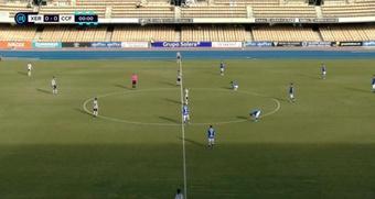 El Córdoba debutó este año en Segunda RFEF con una 'manita'. Twitter/Footters