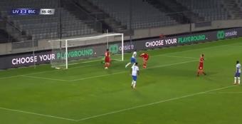 El Liverpool cayó ante el Hertha Berlin. Captura/OnTimeSports