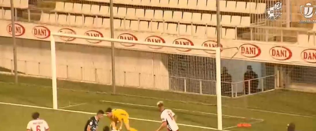 El Almería aprovecha la inercia final. Captura/Footters