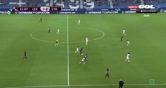 El Lyon ganó al Levante 1-2 en la Champions Femenina. . Captura/Gol
