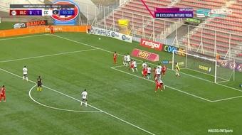 Unión La Calera y Colo-Colo empatan a uno en un duelo por el primer puesto. Twitter/TNTSportsCL