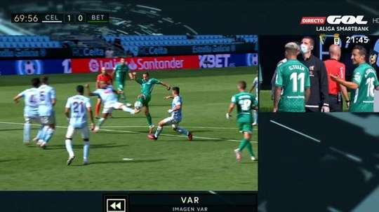 Betis saw a penalty taken away in controversial circumstances. Twitter/GOL