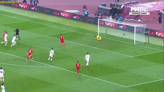 Mitrovic put his penalty over the bar. Twitter
