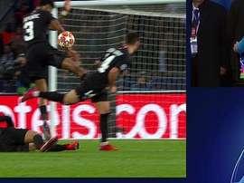 El PSG cayó eliminado. Captura/Movistar